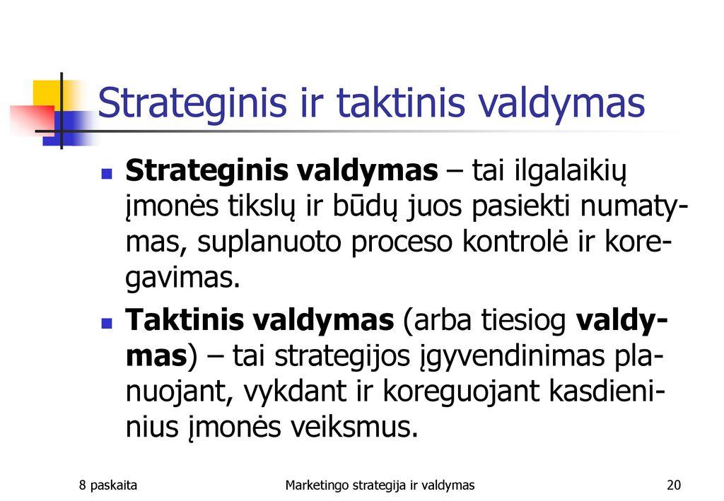 Strategija ir organizacija
