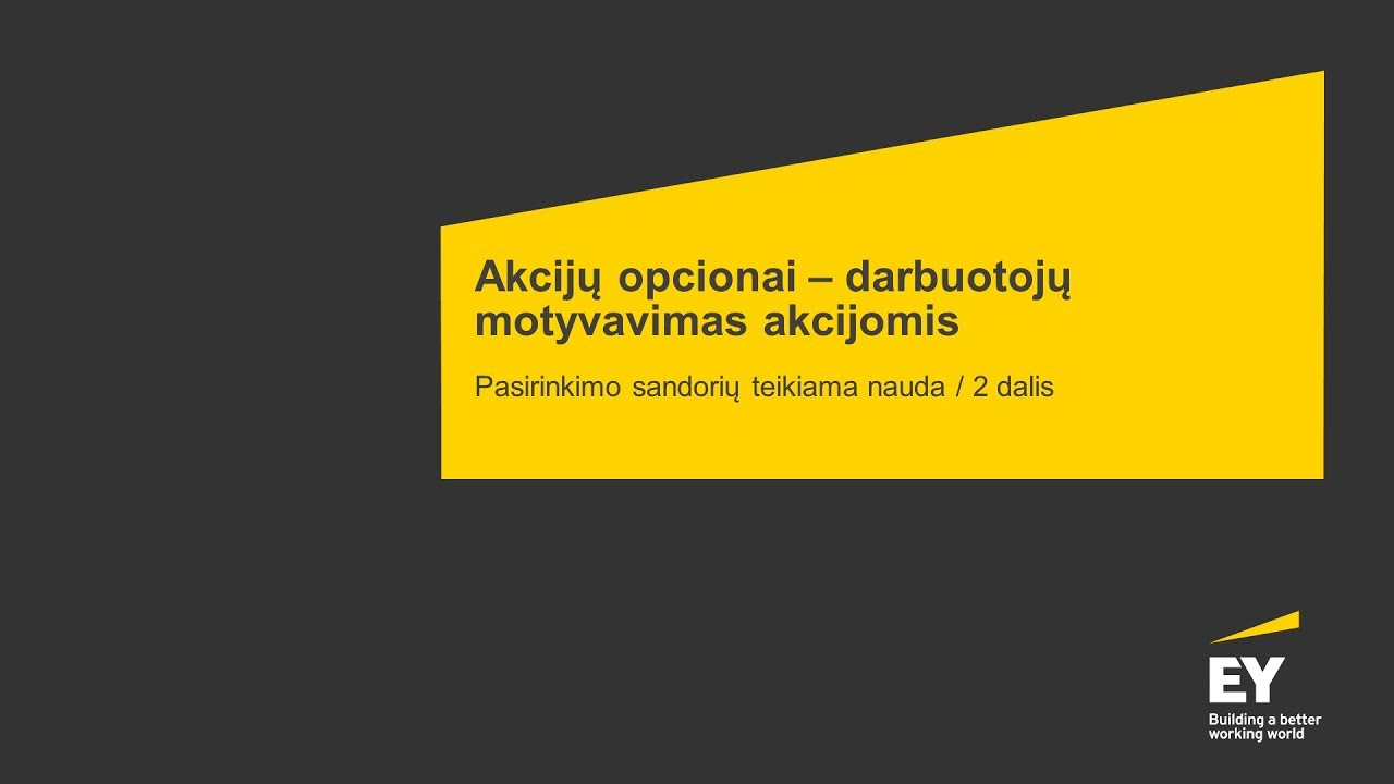 Darbuotojų opcionai: JAV seka Lietuvos pėdomis? - Verslo žinios