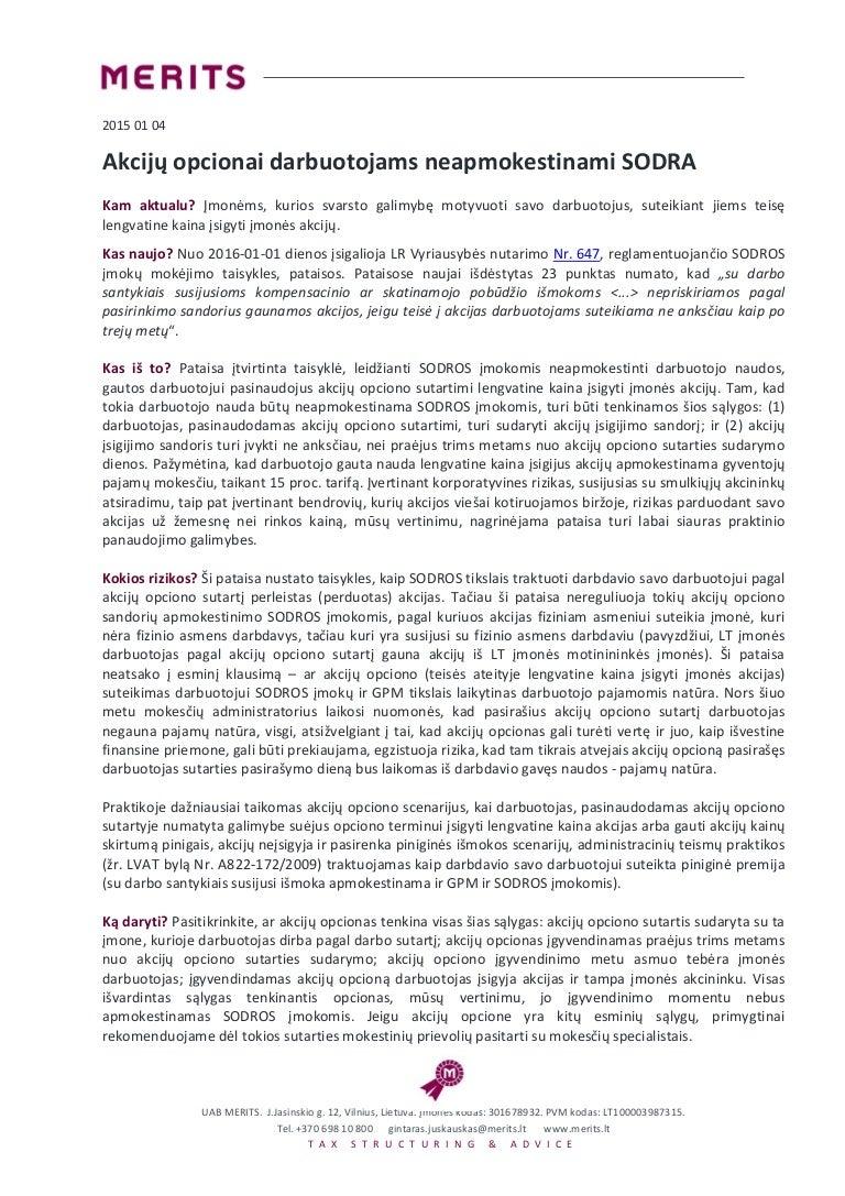akcijų pasirinkimo sandoriai en francais